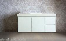 Bathroom Vanity Unit - 1200mm Polyurethane Wall Hung Cabinet