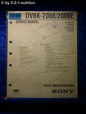 Sony Service Manual DVBK 2000 /2000E Image Capture Card  (#6149)