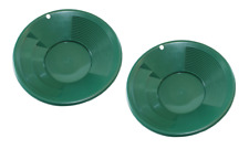 "2 Pk 8"" Green Gold Pans with Dual Riffles Mining Prospecting Gold Panning"
