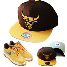 Mitchell & Ness Chicago Bulls Snapback Hat Nike Air Force 1 Brown Timberland