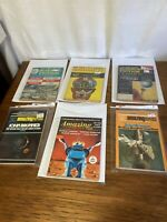 Mixed Lot Of  6 Vintage Sci-Fi Magazines 1960S