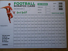 FOOTBALL SCRATCH CARD A3 SIZE COLOURED -150 SPACES-3 CHANCES TO WIN   X 1 CARD