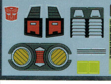 TRANSFORMERS GENERATION 1, G1 AUTOBOT DOUBLECROSS REPRO LABELS/ STICKERS