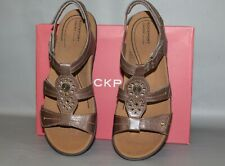 NEW Women's Cobb Hill Revsoothe Size 11 Medium Stone Comfortable Leather Sandals