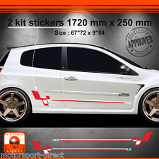Sticker Renault Clio RS 3 tuning sport aufkleber adesivi pegatina decal 514RB