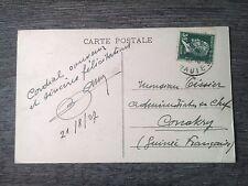 P963. ENVELOPPES & CARTES. AFFRANCHISSEMENT PASTEUR ET SEMEUSE 1927/30 6 PHOTOS