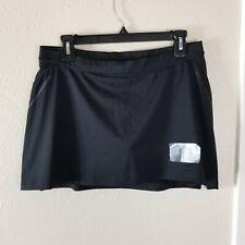Adidas Athletic Skort Womens M Black Tennis Golf Quick Dry Drawstring NWT