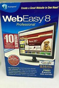 Avanquest Web Easy Professional 8 Design Websites HTML Listing Templates