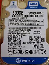 Western Digital WD5000BPVT-55HXZT4 | HH0TJHB | 28 OCT 2012 | 500GB
