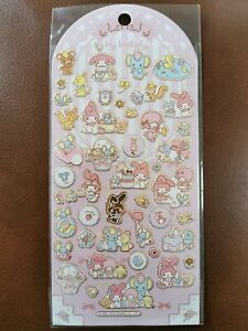 Lovely Cute Kawaii Sanrio Character My Melody Stickers JAPAN Gold Borders