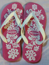 "GENUINE ""PINK & WHITE HAVAIANAS"" ADULT SIZE BRA: 39/40 USA: 7/8"