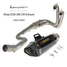 Slip On For Kawasaki Z250 Ninja 300 250 Exhaust Pipe 51mm Muffler 2013-2018 Z300