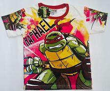 NINJA TURTLES RAPHAEL Boys Girls Kids vibrant T Shirt Size 6 Age 2-4 y New