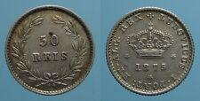 PORTOGALLO RARO 50 REIS 1875 LUIZ I SPL