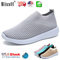 Women's Air Cushion Sneakers Sport Breathable Walking Slip-On Running Sock Shoes