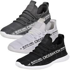 New Crosshatch Mens Lace up Trainers Sports Running Sneaker Shoes Size UK 7-12