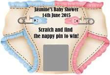 Baby Shower Game - Personalised Scratch Off Game x 10