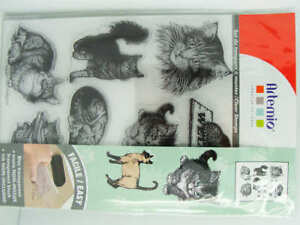 9 Clear Stamp Tampon Chats Chaton Animal 18cm Artemio Scrapbooking Carterie