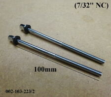 "2 x Bass Drum Tension Bolts / Screws  4"" (100mm) 7/32"" NC Thread 002-103-223/2"