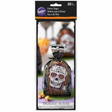 Day of the Dead Skull Halloween Treat Bags 20 ct  from Wilton #0449- NEW