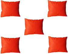 Silk Home Decor Pillows Throw Indian Cushion Cover Plain New Set of 5 PCS US