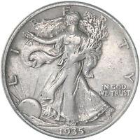 1935 D Walking Liberty Half Dollar 90% Silver Very Fine VF