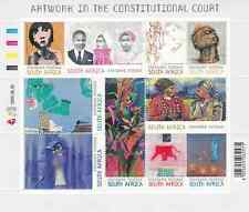 SOUTH AFRICA - 2009 - Artworks in the Constitutional Court. Sheet, 10v. Mint NH