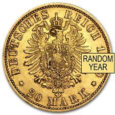 1871-1913 Germany Gold 20 Marks Prussia Avg Circ (Random) - SKU #29983