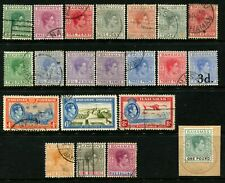 BAHAMAS - 1938 KGVI Set to £1 'BLUE-GREEN & BLACK' VFU SG149-60 Cv £90 [B1286]