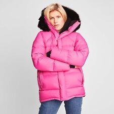 Fleischer Couture Stella Down Coat Alpaca Hood Rose Violet