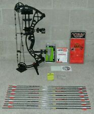 """LEFT Handed 2021 Hoyt Eclipse Bow Package- 50 to 60 lb- 27.5"""" Draw - Black"""