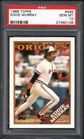 (2) CARD LOT  1988 Topps #495 EDDIE MURRAY HOF Baltimore Orioles PSA 10 Gem Mint
