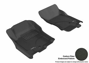 For 2005-2012 Nissan Pathfinder Kagu Black All Weather Front Floor Mat Set