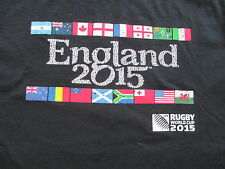 Rugby World Cup 2015 England Black T Shirt Size S Small M Medium