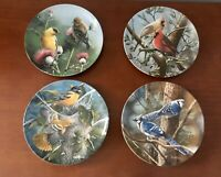 4 Collectible Plate Edwin M Knowles Encyclopedia Britannica Birds Kevin Daniel