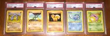 1999 Pokemon 1st Edition Base Set. All 5 Cards Are PSA 10 MINT