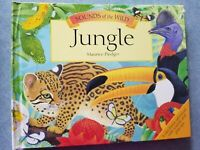 SOUNDS OF THE WILD JUNGLE by MAURICE PLEDGER ~  POP-UP BOOK SOUNDS WORK ~ HC
