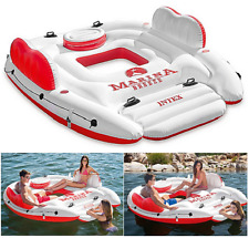 4 Person Inflatable Floating Island Pool Lake Water Party Lounge Raft Float