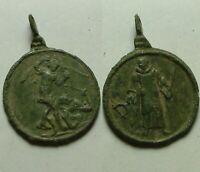 Rare Original bronze post Medieval slave war priest pendant intact Patina