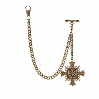 Brand New Bronze Colour Albert Pocket Watch Fob Chain With Pendant