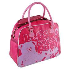 Rainbow Bag Large Pink Overnight Travel Weekend Zippy Bungle Cool Retro Fashion