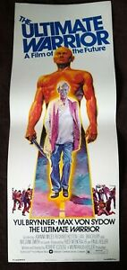 The Ultimate Warrior 1975 Vintage Insert Poster Yul Brynner Max Von Sydow
