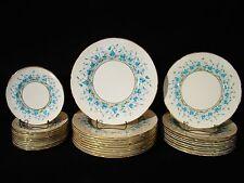 42 Pieces Coalport Porcelain Harebell Luncheon Dessert Set