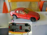 MAJORETTE SERIE 200 PORSCHE 924 rouge N° 247 b-5 à 1/60 de 1982