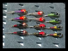 ( nº 2 )12 PERDIGONES  ANZUELO C/M  CABEZA TUNGSTENO FLY FISHING