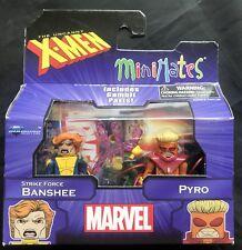 MARVEL UNCANNY X-MEN STRIKE FORCE BANSHEE & PYRO MINIMATES 2 PACK
