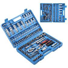 108 pièces Kit de clés à cliquet 1/4 en 1 / 2in CR40 ensemble douilles en acier