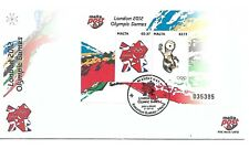 Malta ( London Olympic Games ) 2012 Souvenir Sheet on First day Cover