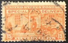 1925 15c Motorcycle Special Delivery single, Scott #E13, Used, F