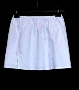 BLACK WHITE Cotton Mini Half Slip UK SIZE 4-20 Petticoat WAIST SLIP Underskirt